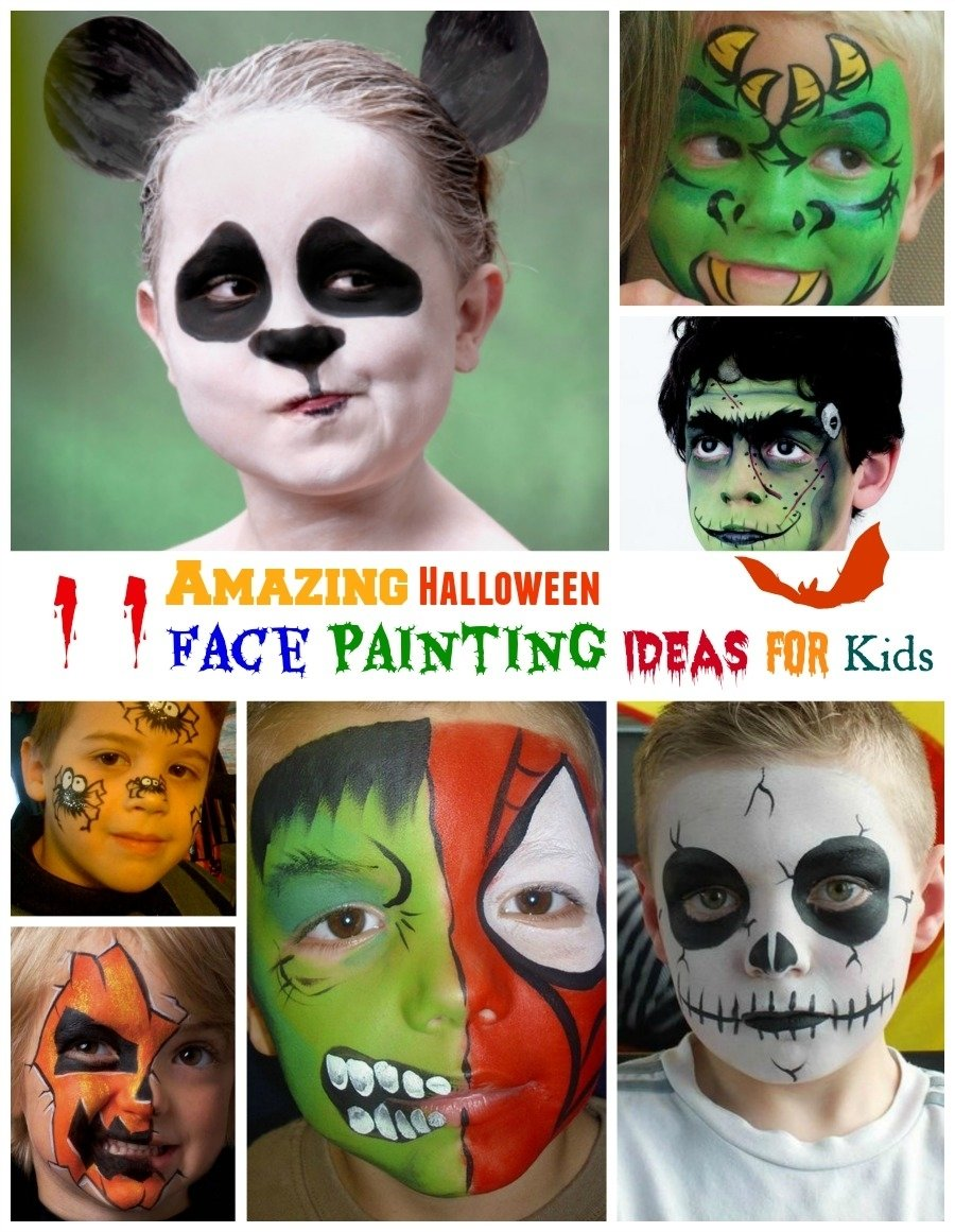 10 Fantastic Kids Halloween Face Painting Ideas amazing halloween face painting ideas for kids 1