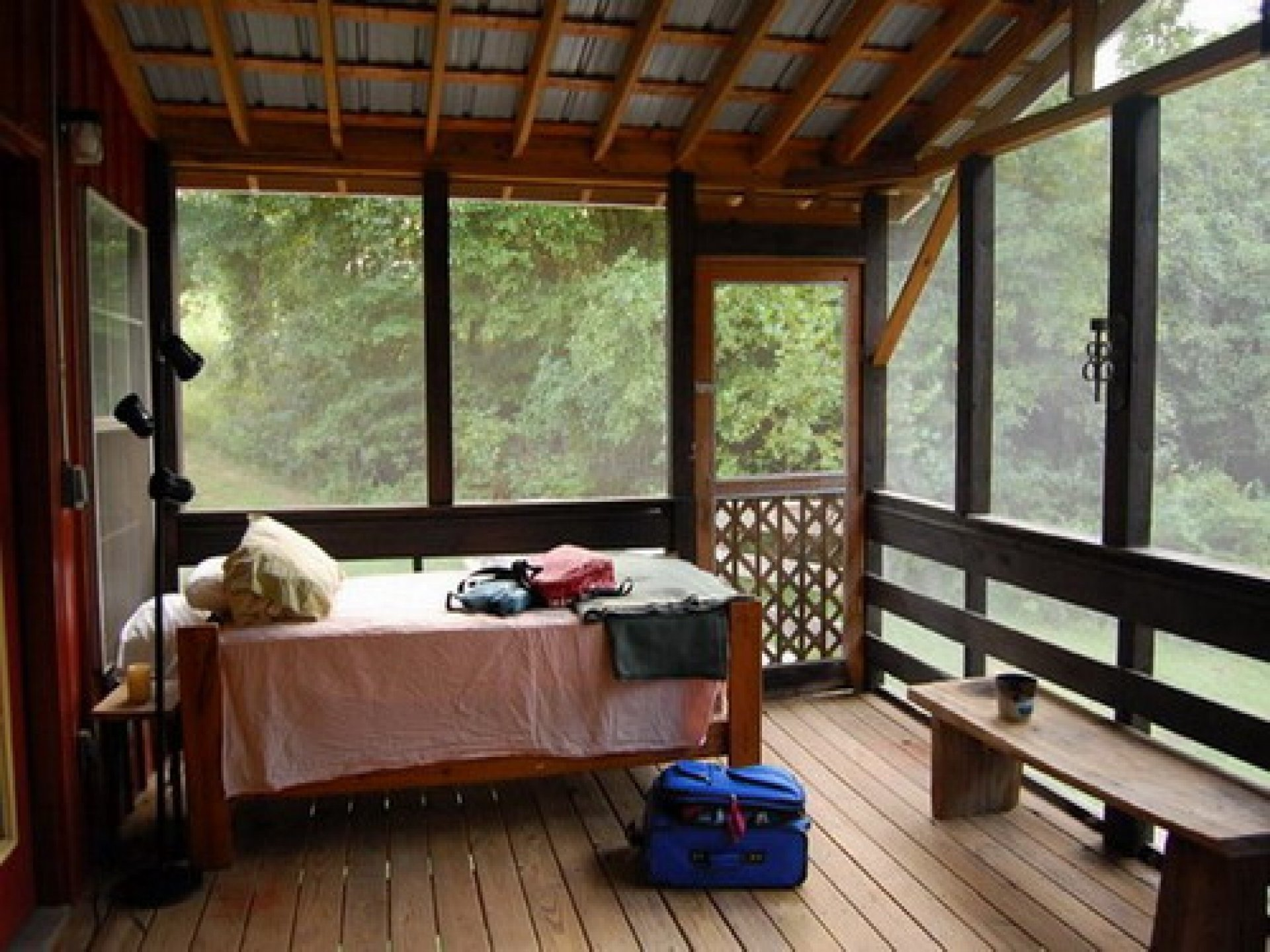 10 Most Recommended Screened In Porch Design Ideas amazing interior sleeping bed couch on wooden floors as well as wood 2021