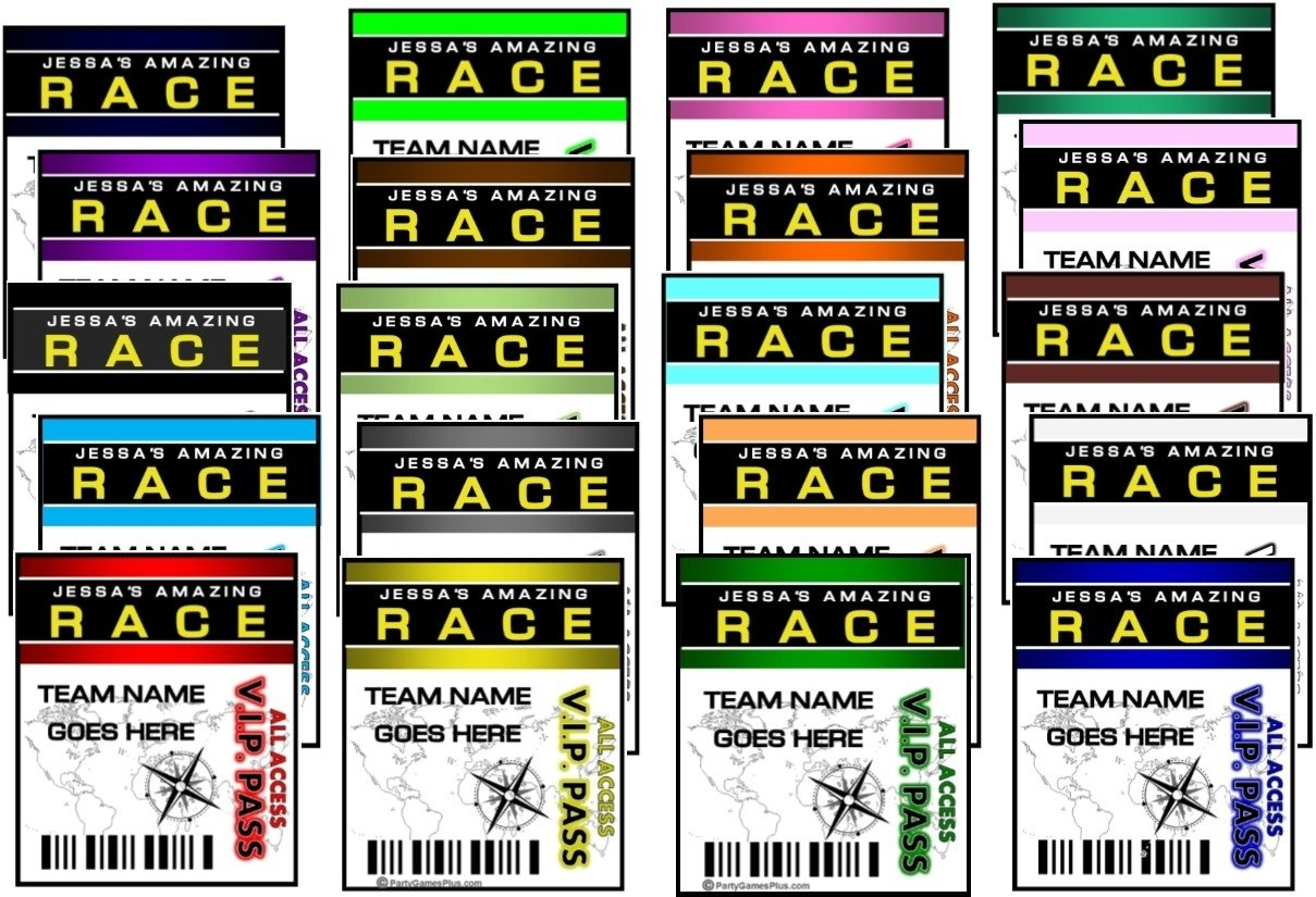 10 Pretty Amazing Race Ideas For Adults amazing race party supplies and invitations 3 2020
