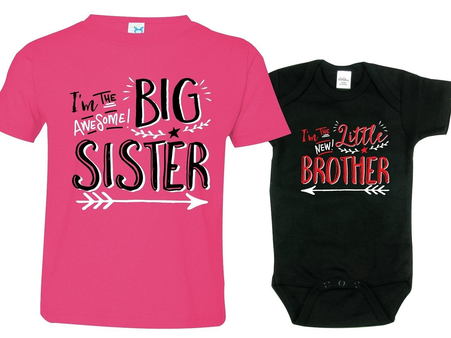 amazon: sibling shirts for sister and brother, hipster design