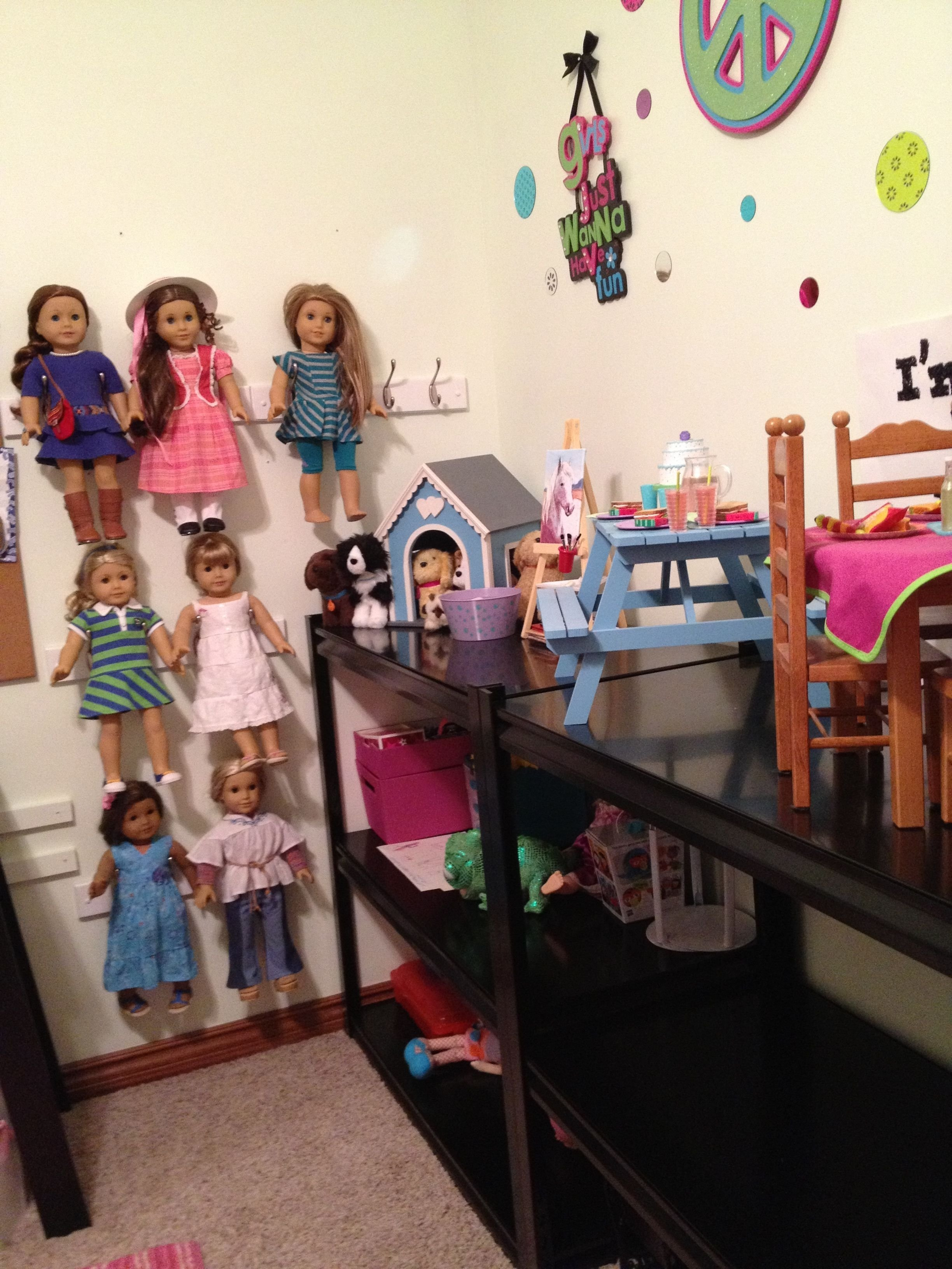 10 Spectacular American Girl Doll Storage Ideas american girl clark doll with book doll storage girl dolls and 2020