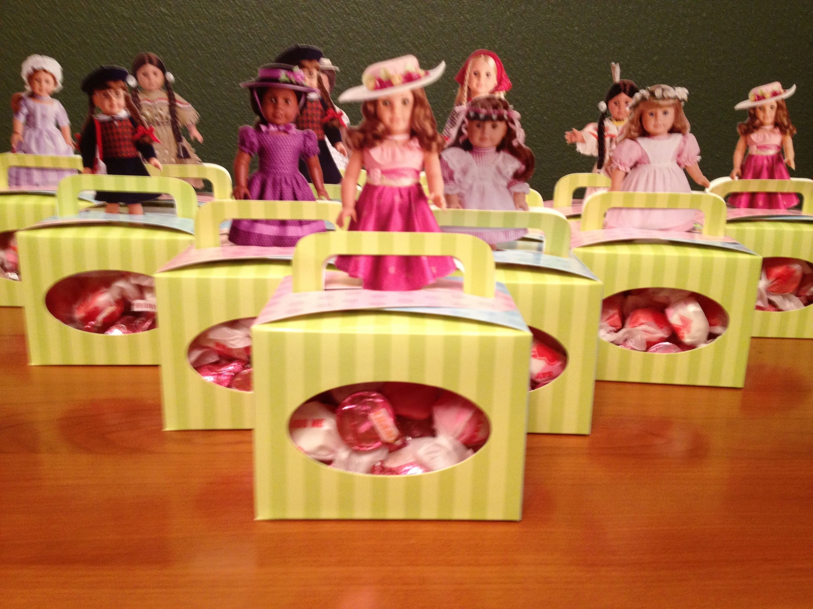 10 Attractive American Girl Doll Party Ideas american girl doll party goodie bags doll party pinterest