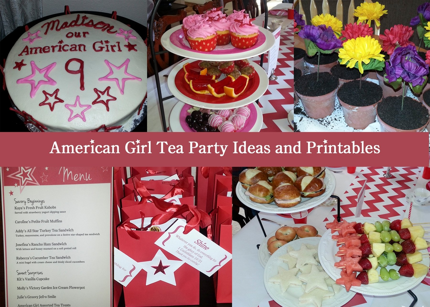 american girl tea party birthday – bakerlady