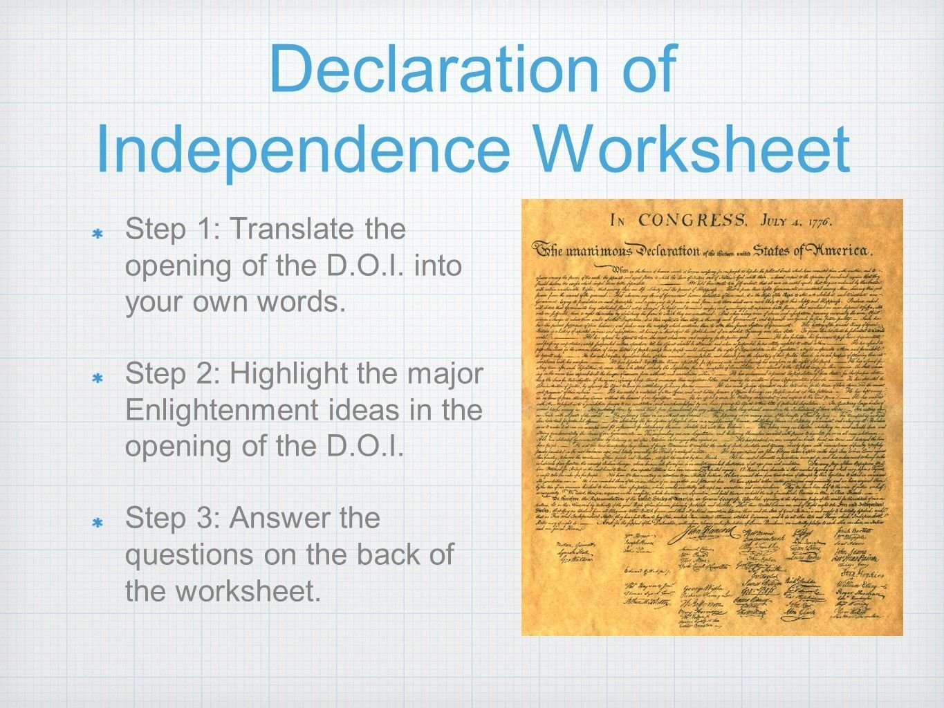 10 Lovable Main Idea Of Declaration Of Independence american revolution build up overview results agenda 1 american 1 2020