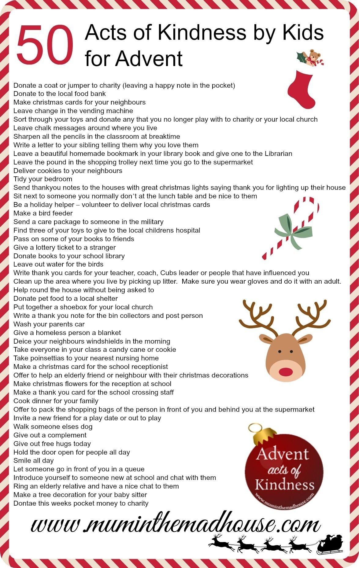 10 Beautiful Advent Calendar Ideas For Adults an alternative advent calendar acts of kindnesskids free 2 2021
