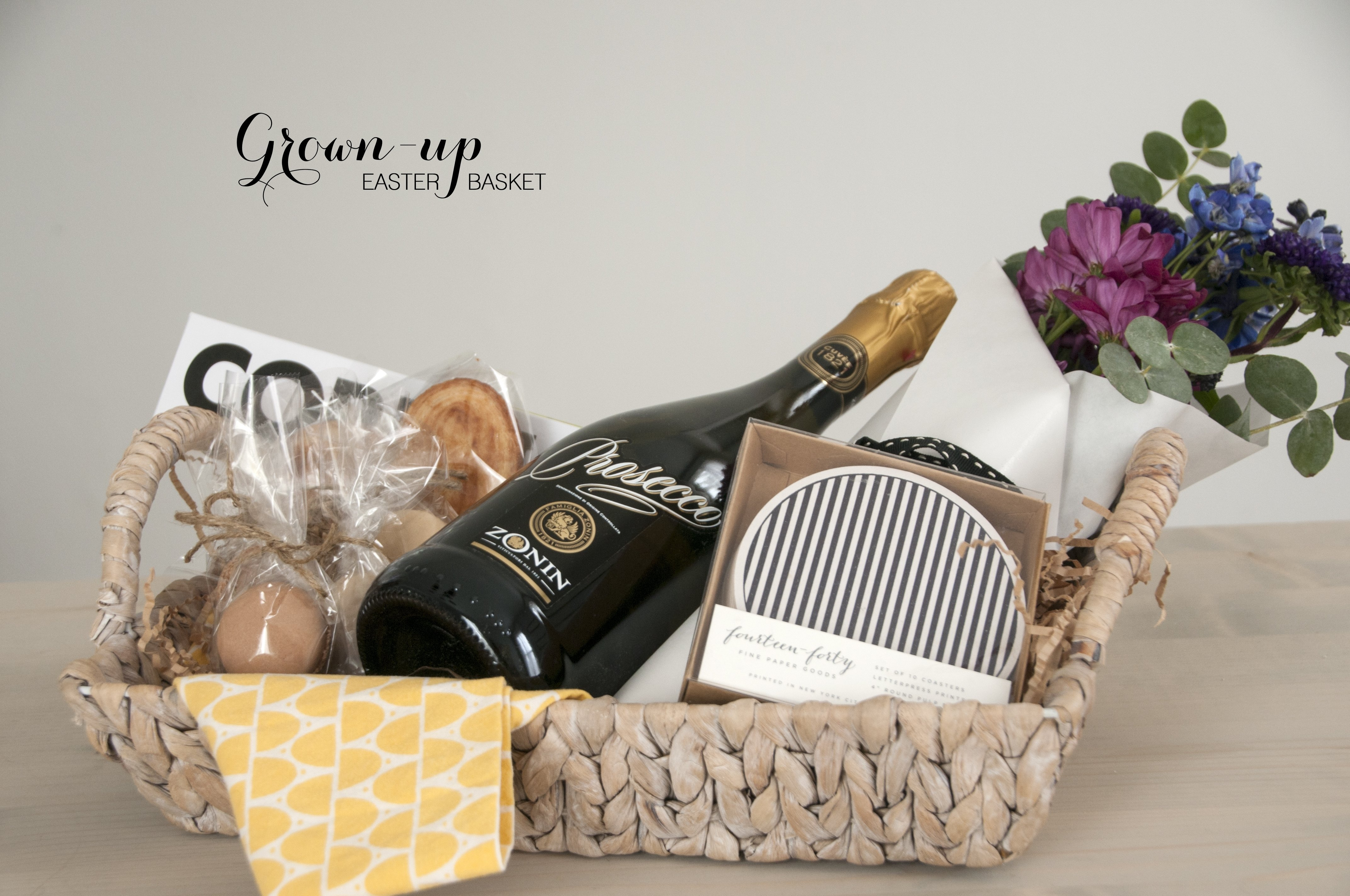 10 Stylish Easter Gift Ideas For Adults an easter basket for grown ups earnest home co 2 2021