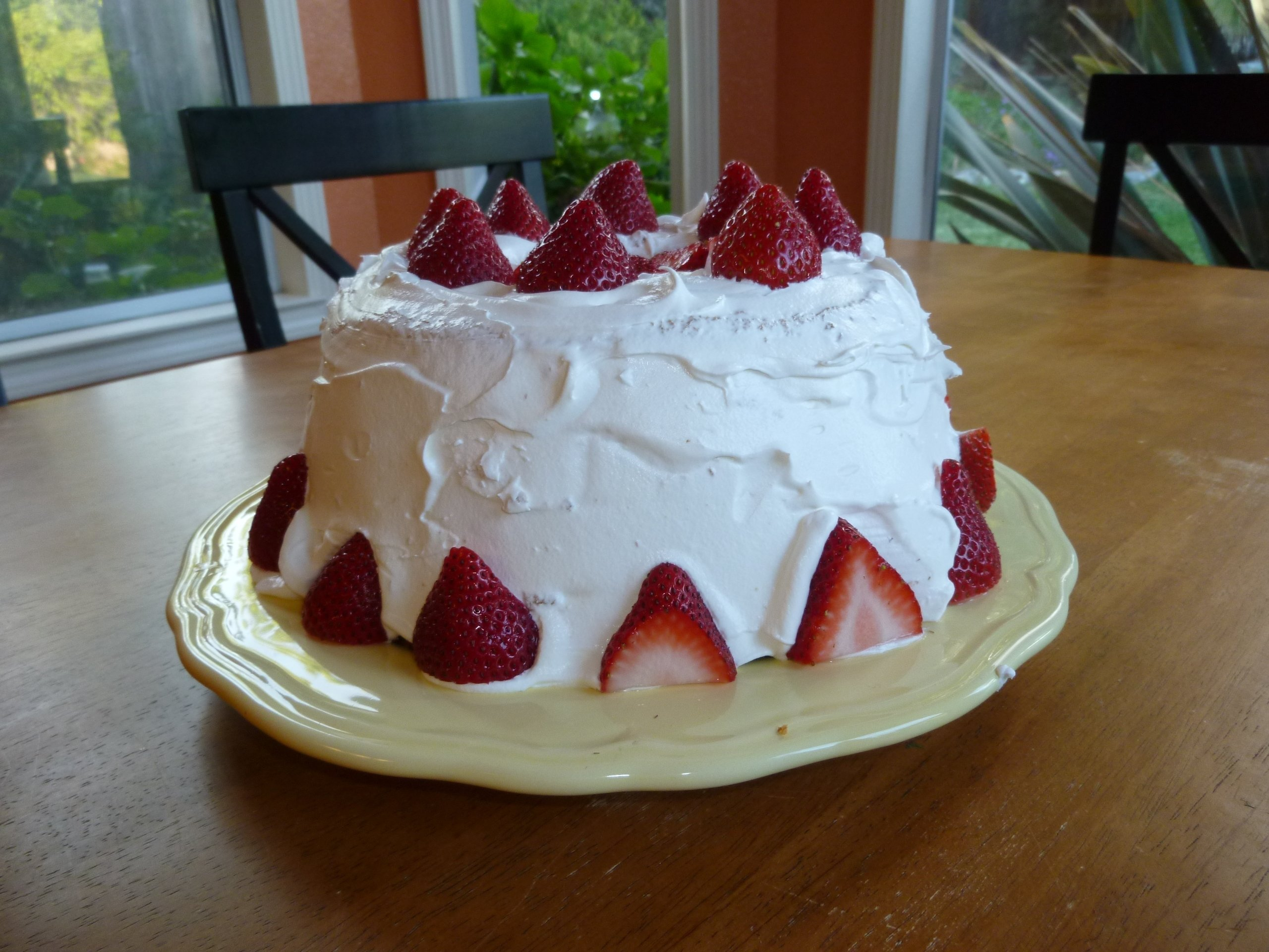 10 Attractive Angel Food Cake Topping Ideas an easy angel food cake decorated with fresh strawberries and 2020