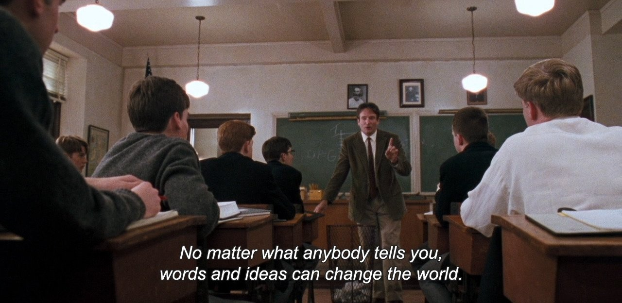 10 Lovely Words And Ideas Can Change The World anamorphosis and isolate dead poets society 1989 no matter 2021