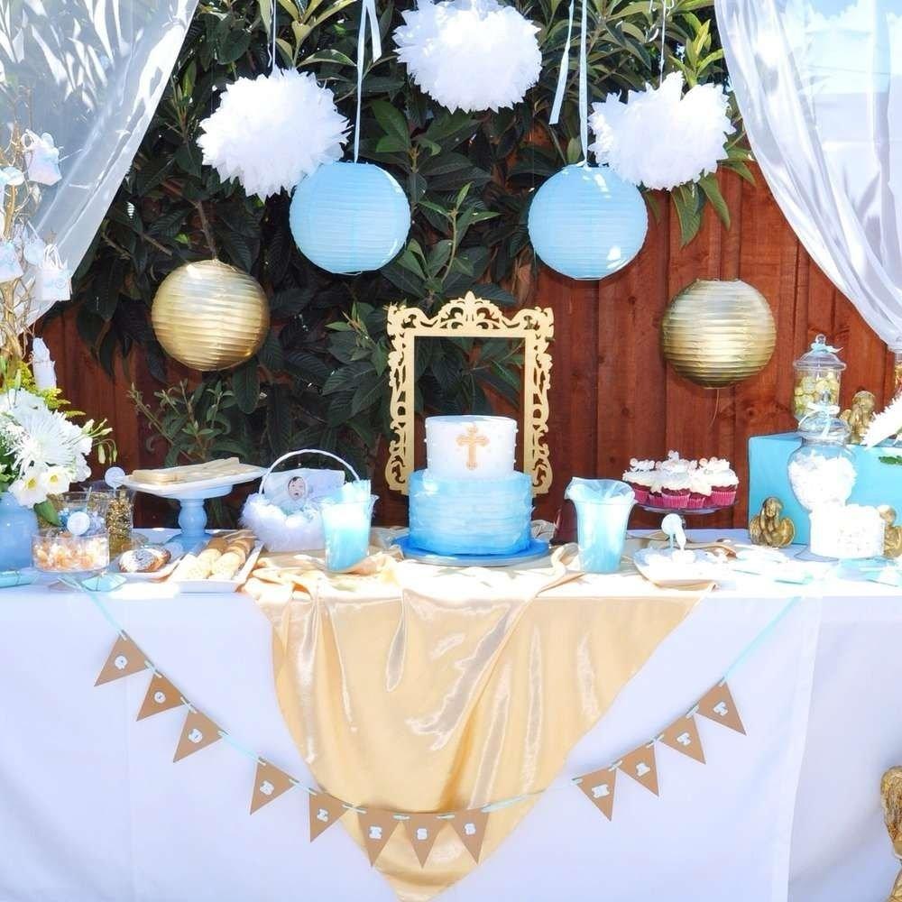 angel themed baptism baptism party ideas | baptism dessert table