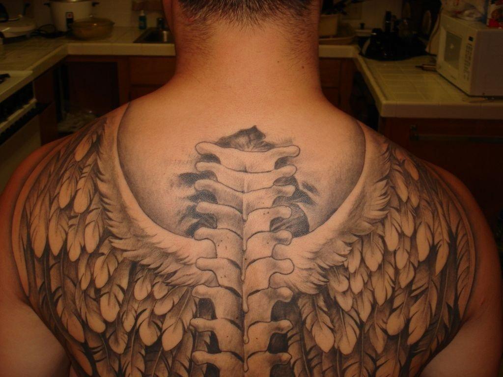 10 Gorgeous Back Tattoo Ideas For Men angel wing tattoos for men tatoo tattoo and tatt 1