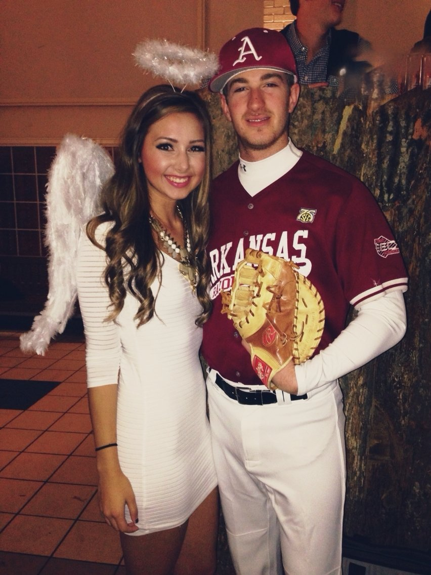 10 Gorgeous Couples Halloween Costumes Ideas Unique angels in the outfield couples costume hooray for halloween 1 2020