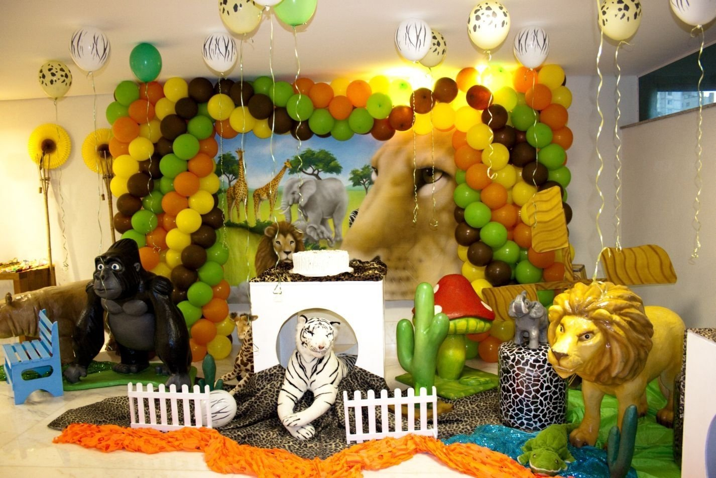 10 Spectacular Animal Themed Birthday Party Ideas animal props at jungle theme party jungle theme party pinterest 2020