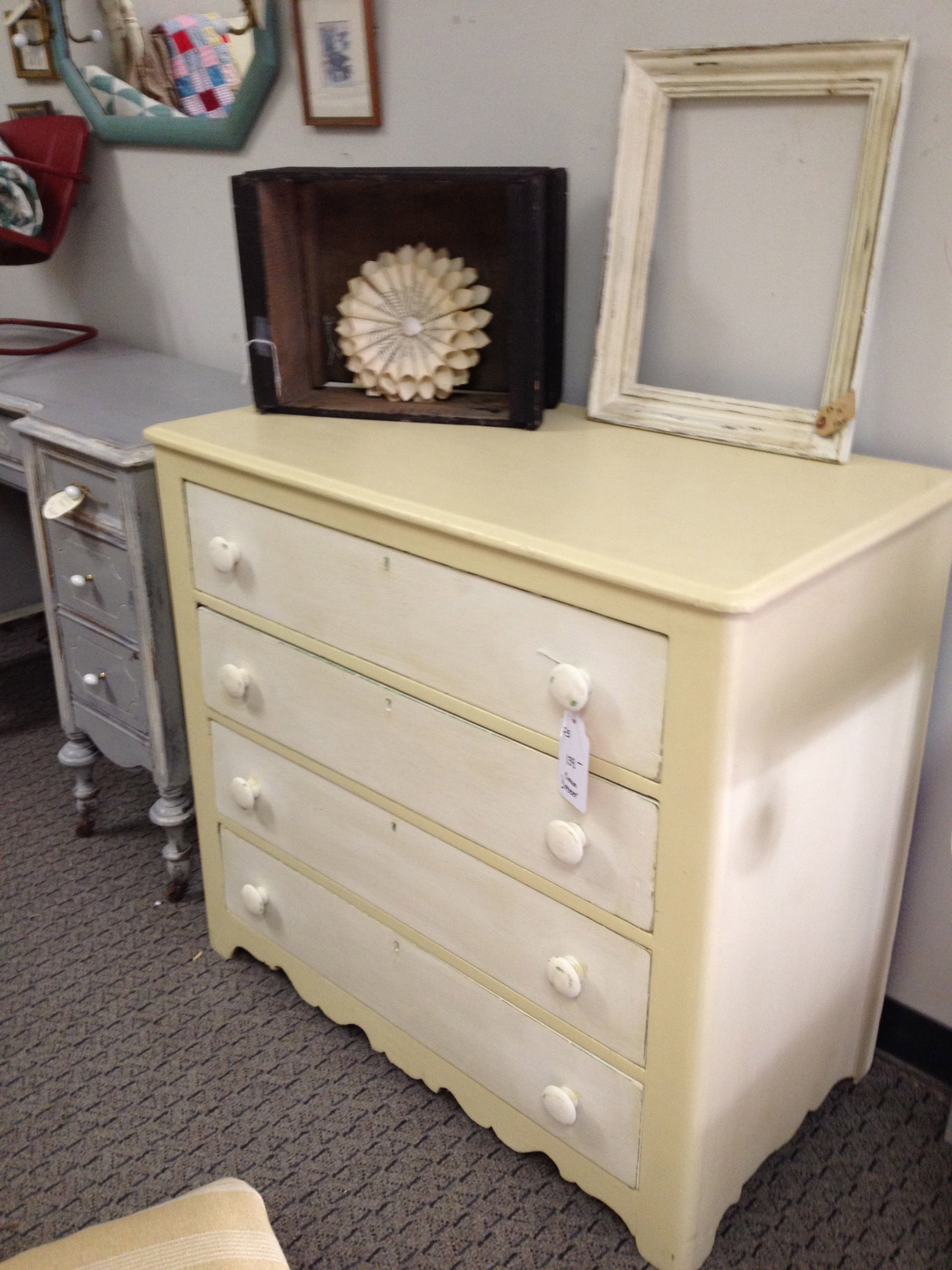 10 Pretty Annie Sloan Painted Furniture Ideas annie sloan cream and old white dresser things ive painted 2020