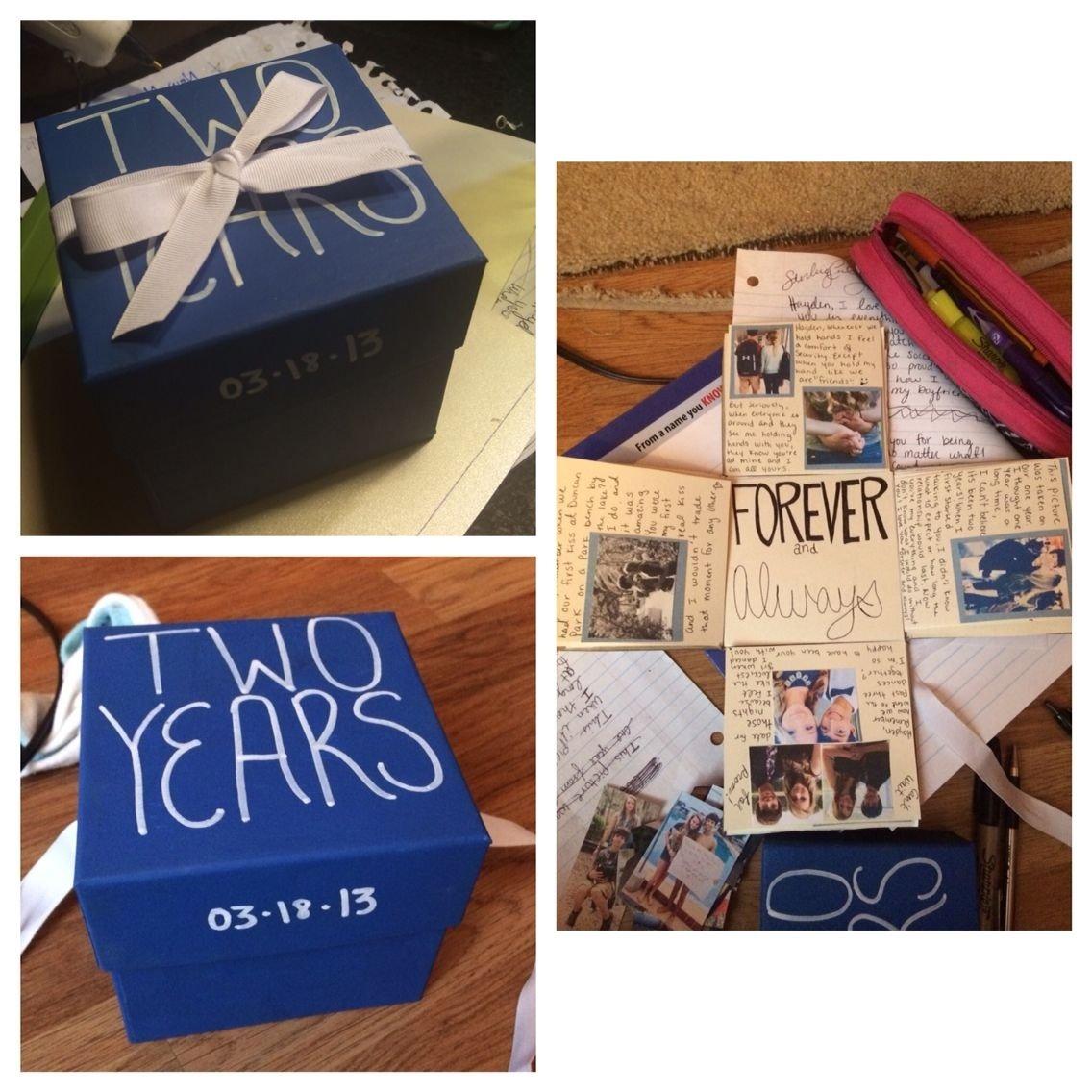 10 Stylish 2 Year Anniversary Ideas For Boyfriend anniversary box for my boyfriend and is 2 year i made different 1