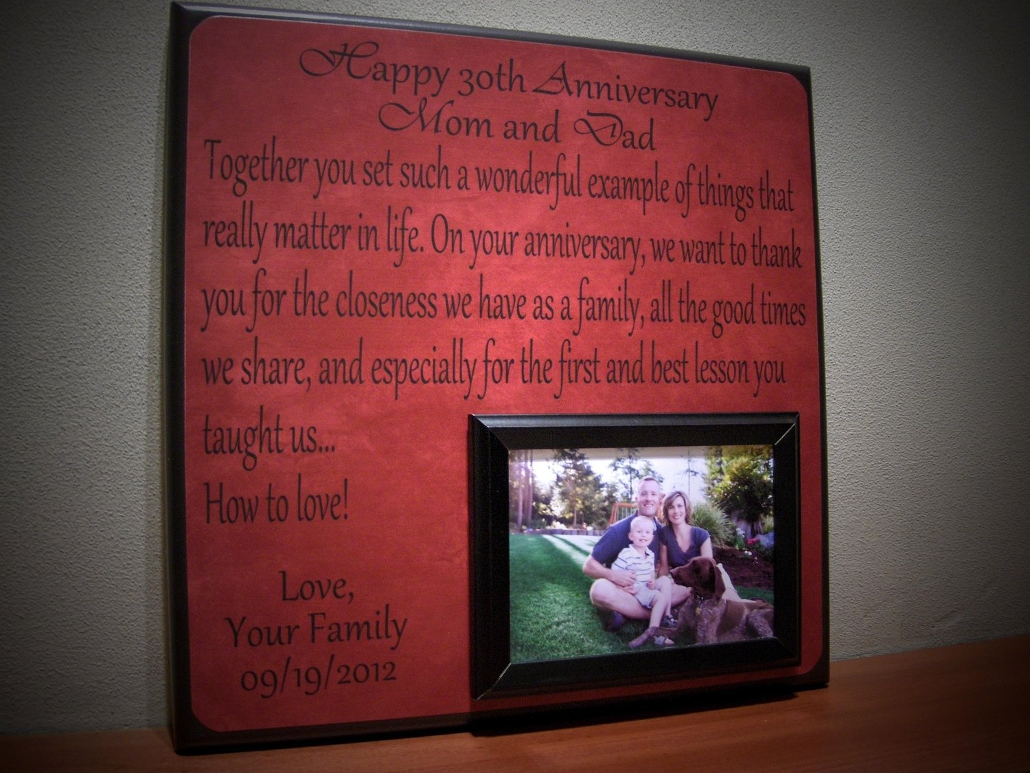 10 Nice 30th Wedding Anniversary Gift Ideas For Parents