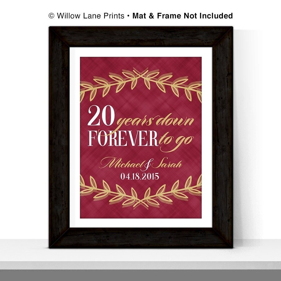10 Elegant 20Th Wedding Anniversary Gift Ideas For Her anniversary gifts for men 20th anniversary gift for him or 20 1 2021