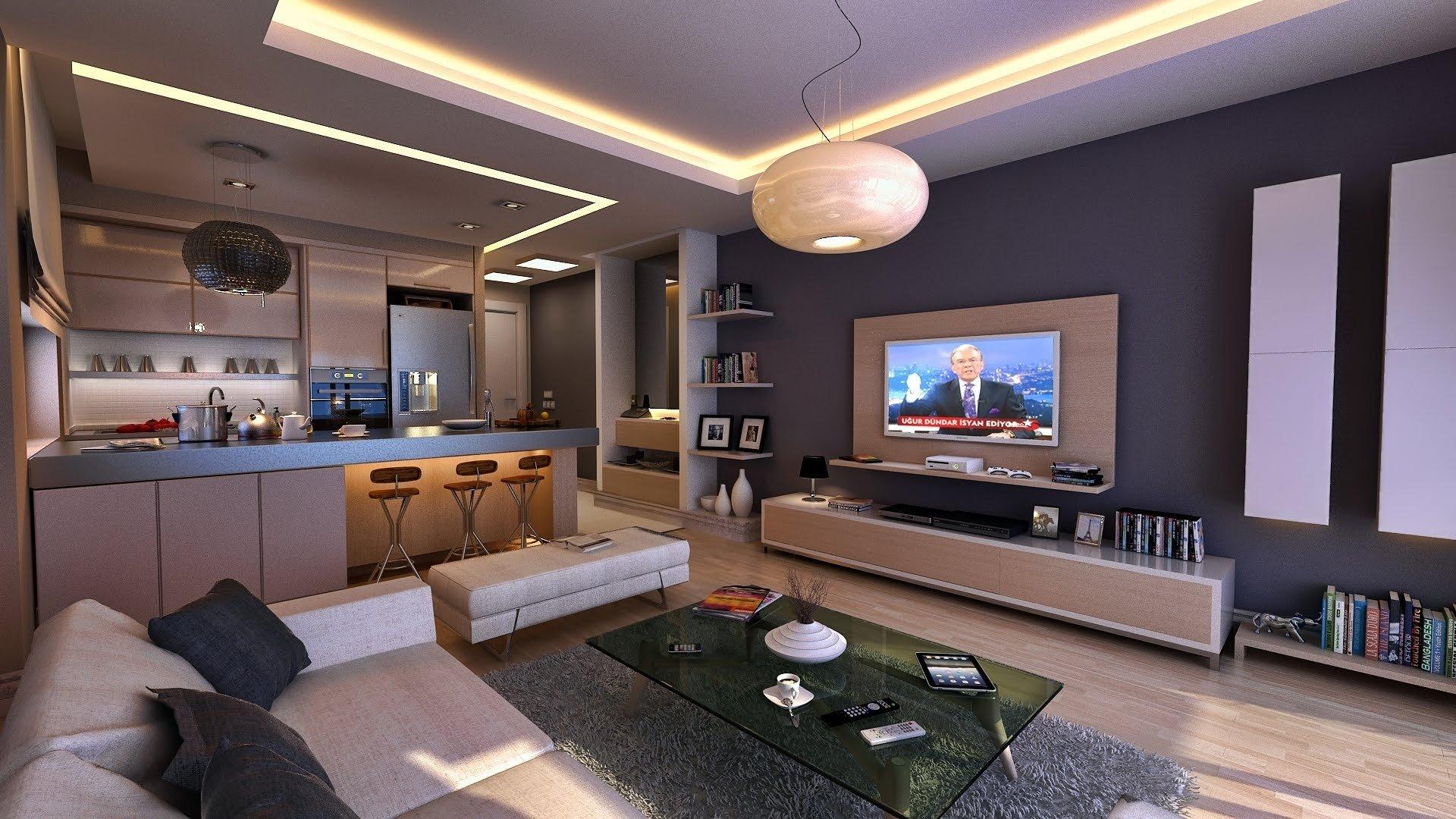 apartment living room interior design ideas - youtube