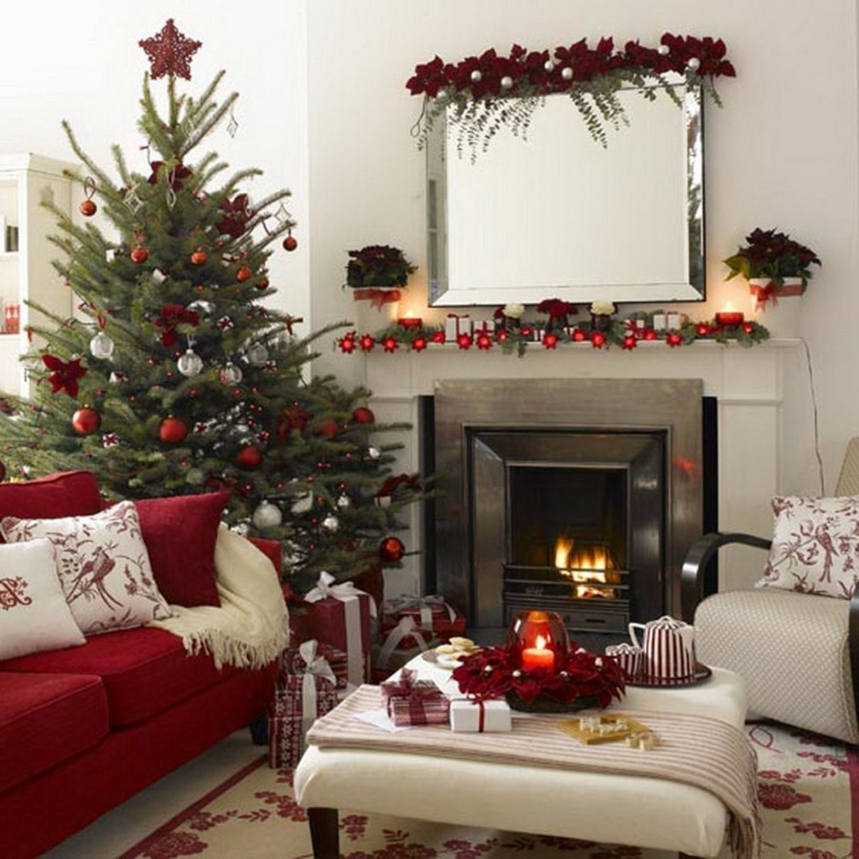 10 Lovely Christmas Decoration Ideas For Apartments apartment traditional apartment interior design warm living room 2020