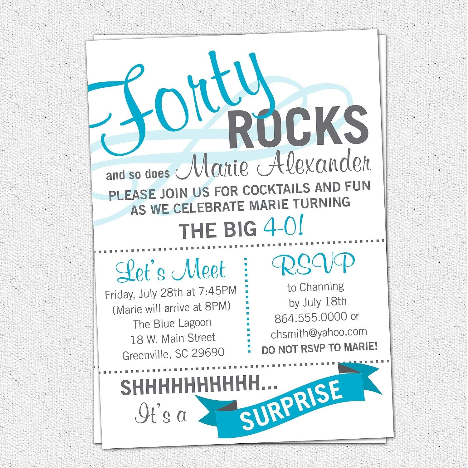 10 Unique Birthday Party Invitation Wording Ideas Appealing 40th To Design Free Printable