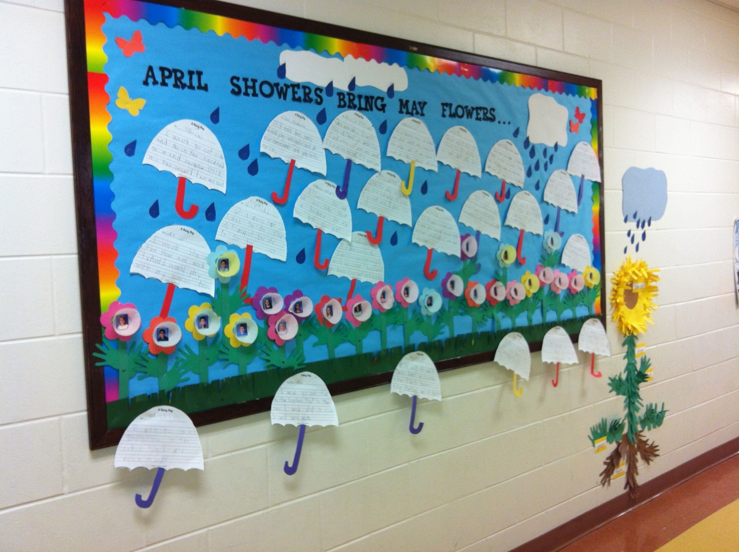 april showers bring may flowers! | bulletin boards | pinterest