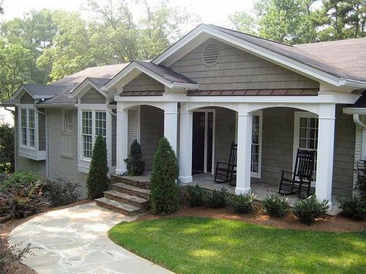 10 Stylish Front Porch Ideas For Ranch Style Homes 2020