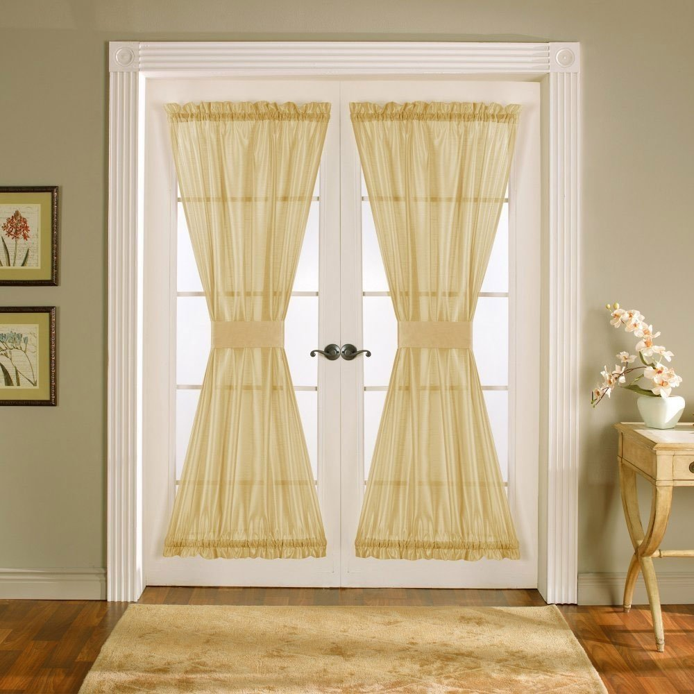 10 Elegant Window Treatment Ideas For French Doors arched window french treatments eva furniture 2020