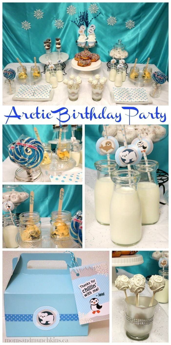 10 Beautiful Winter Birthday Party Ideas For Toddlers Arctic Animals