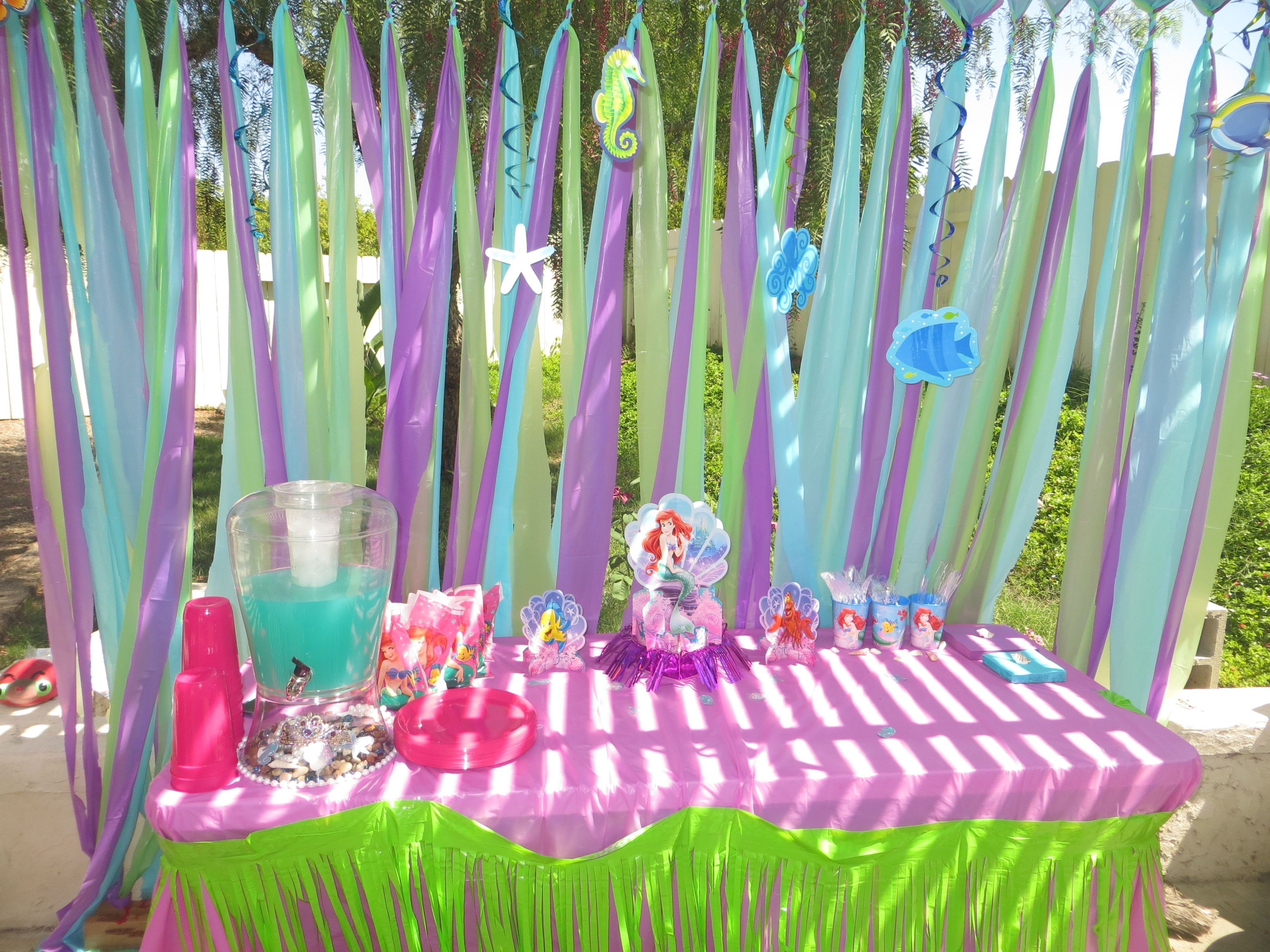 10 Spectacular Little Mermaid Party Decoration Ideas ariannas 3rd birthday party decorations the little mermaid party & 10 Spectacular Little Mermaid Party Decoration Ideas