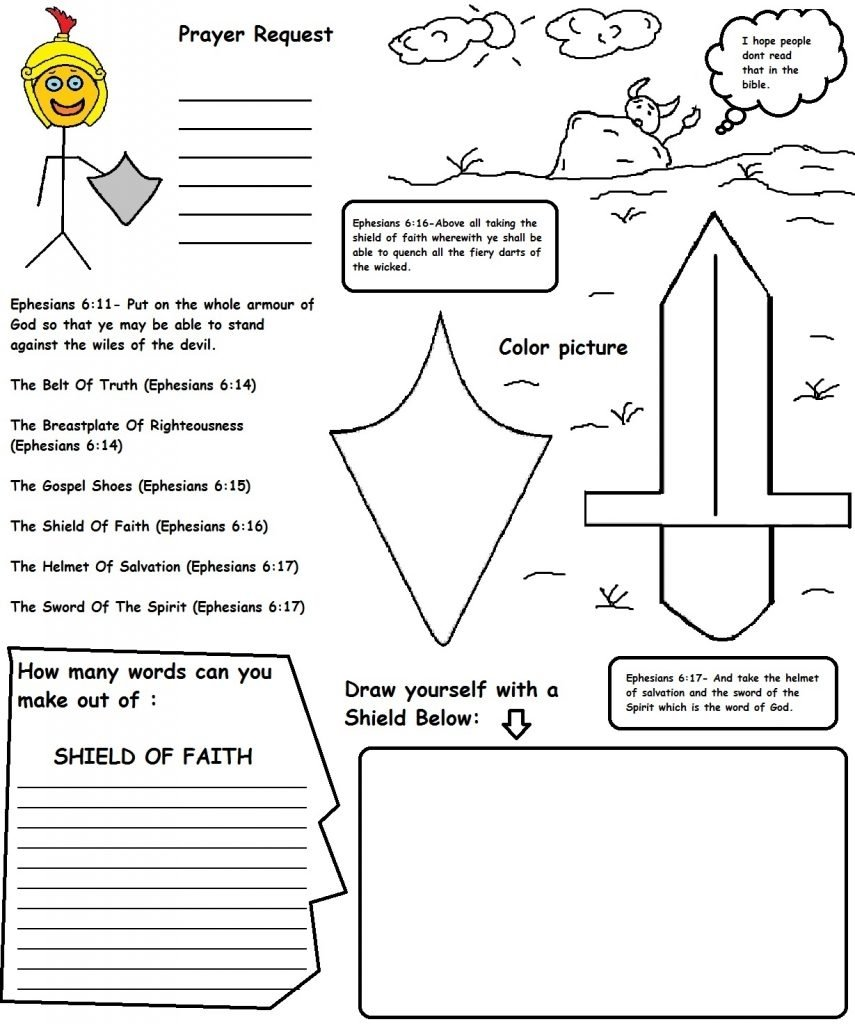 armor of god activities for kids #9061