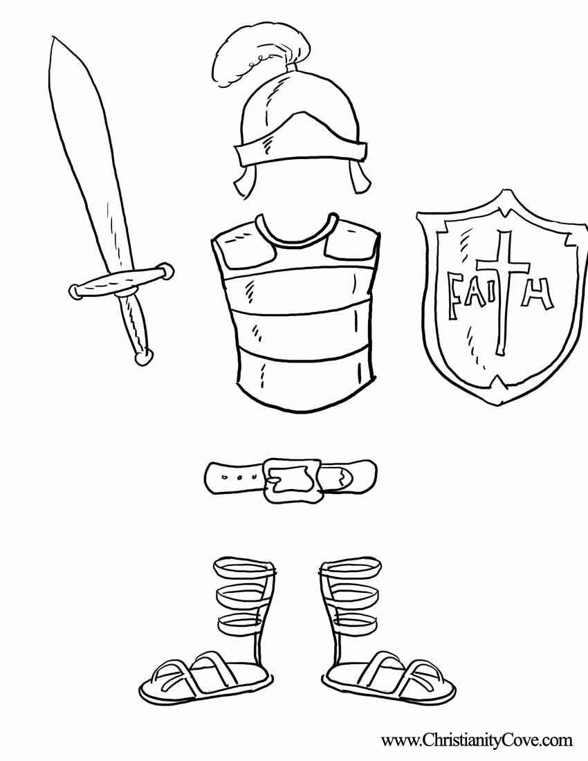 10 Stunning Armor Of God Craft Ideas armor of god coloring pages bible printables coloring pages for 2020