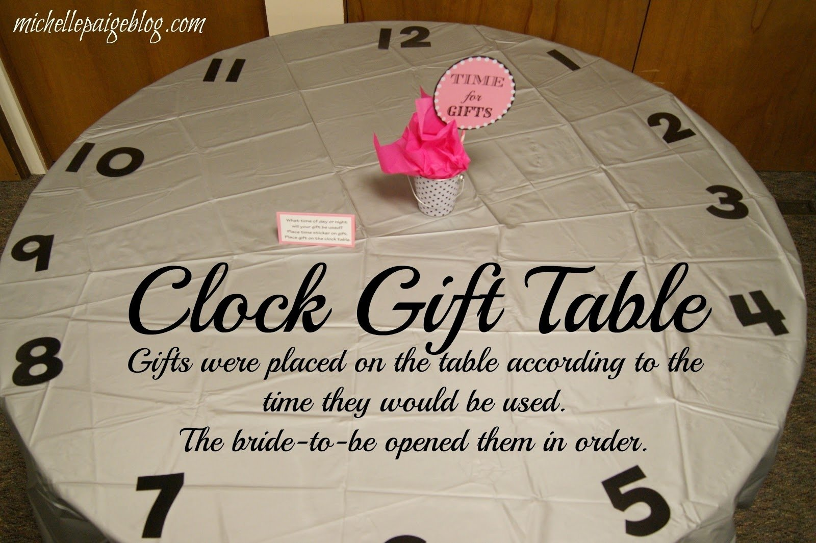 10 Cute Around The Clock Bridal Shower Ideas around the clock bridal shower gift ideas best furniture for home 1 2020