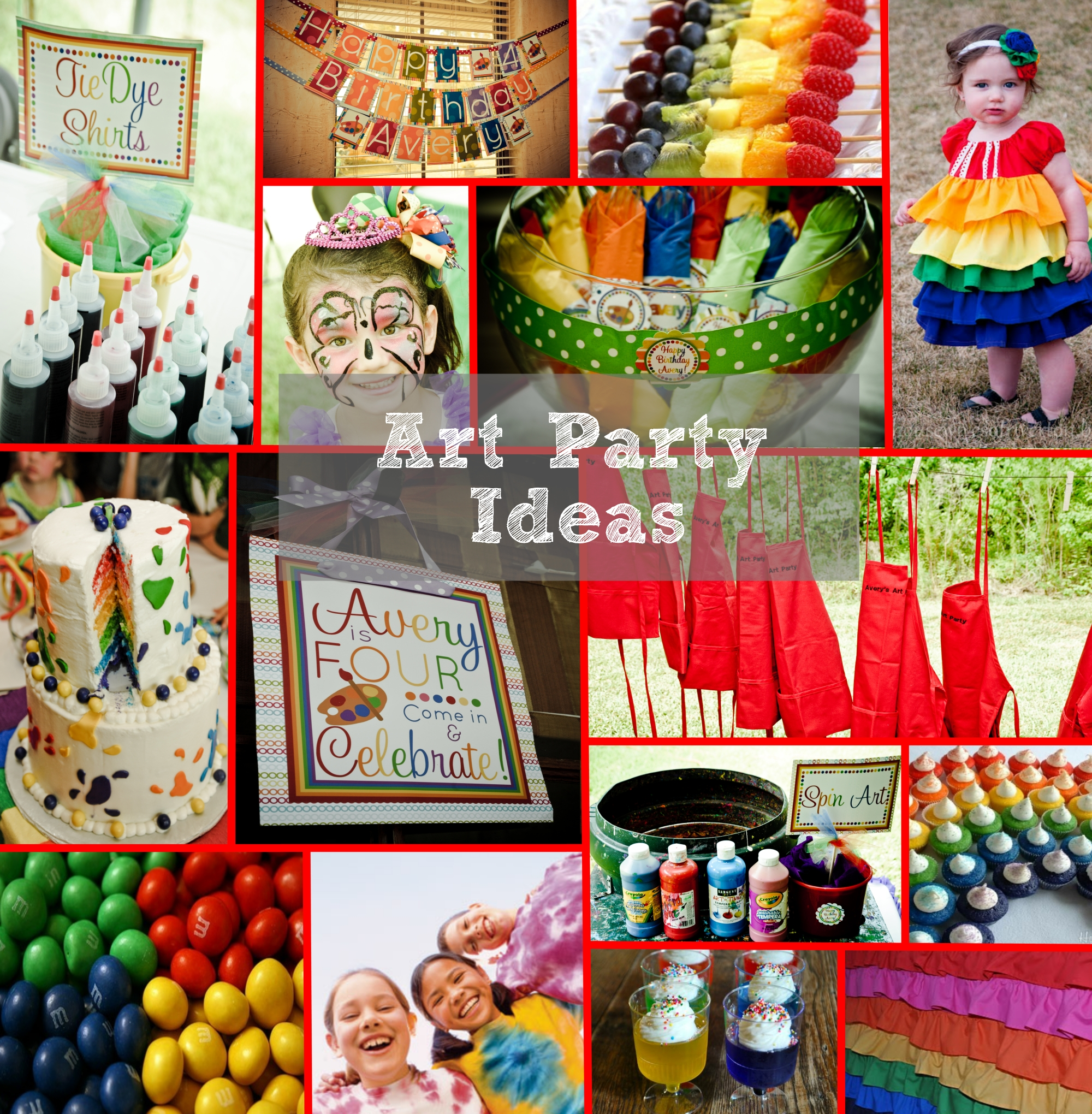 art party week: inspiration board and giveaway (updated) | party on