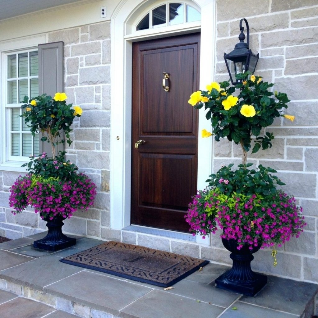 10 Awesome Planter Ideas For Front Porch articles front porch planter ideas full sun tag enchanting container 1 2021