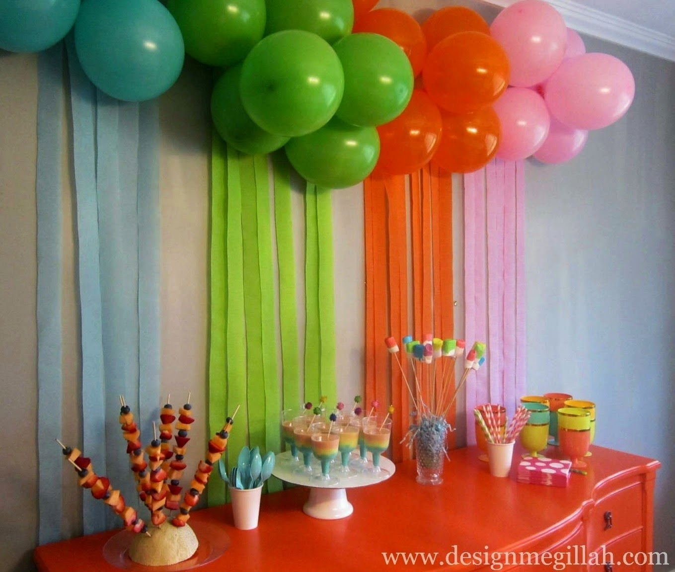 at home birthday party awesome party decorations at home - home