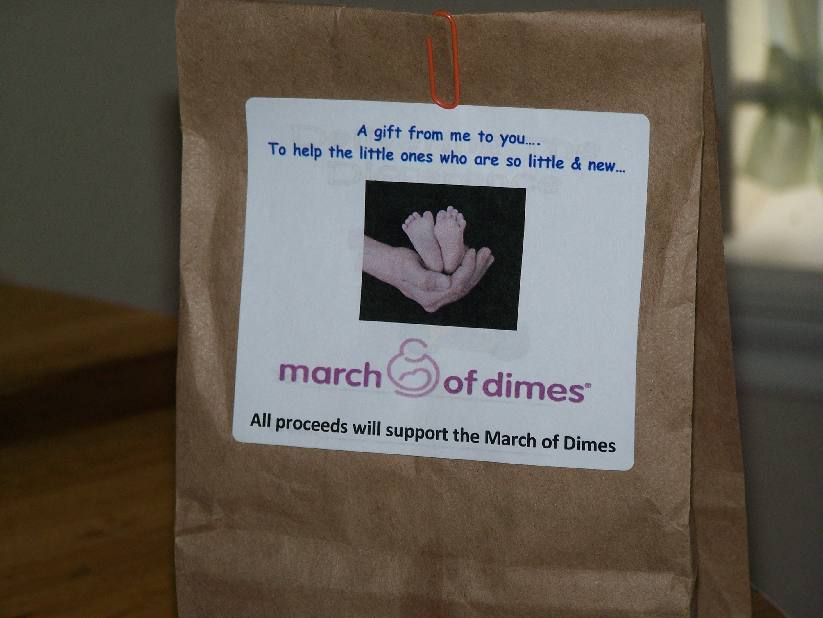 10 Lovable March Of Dimes Fundraising Ideas at work they sold these bags for 1 00 to raise money for march of 1
