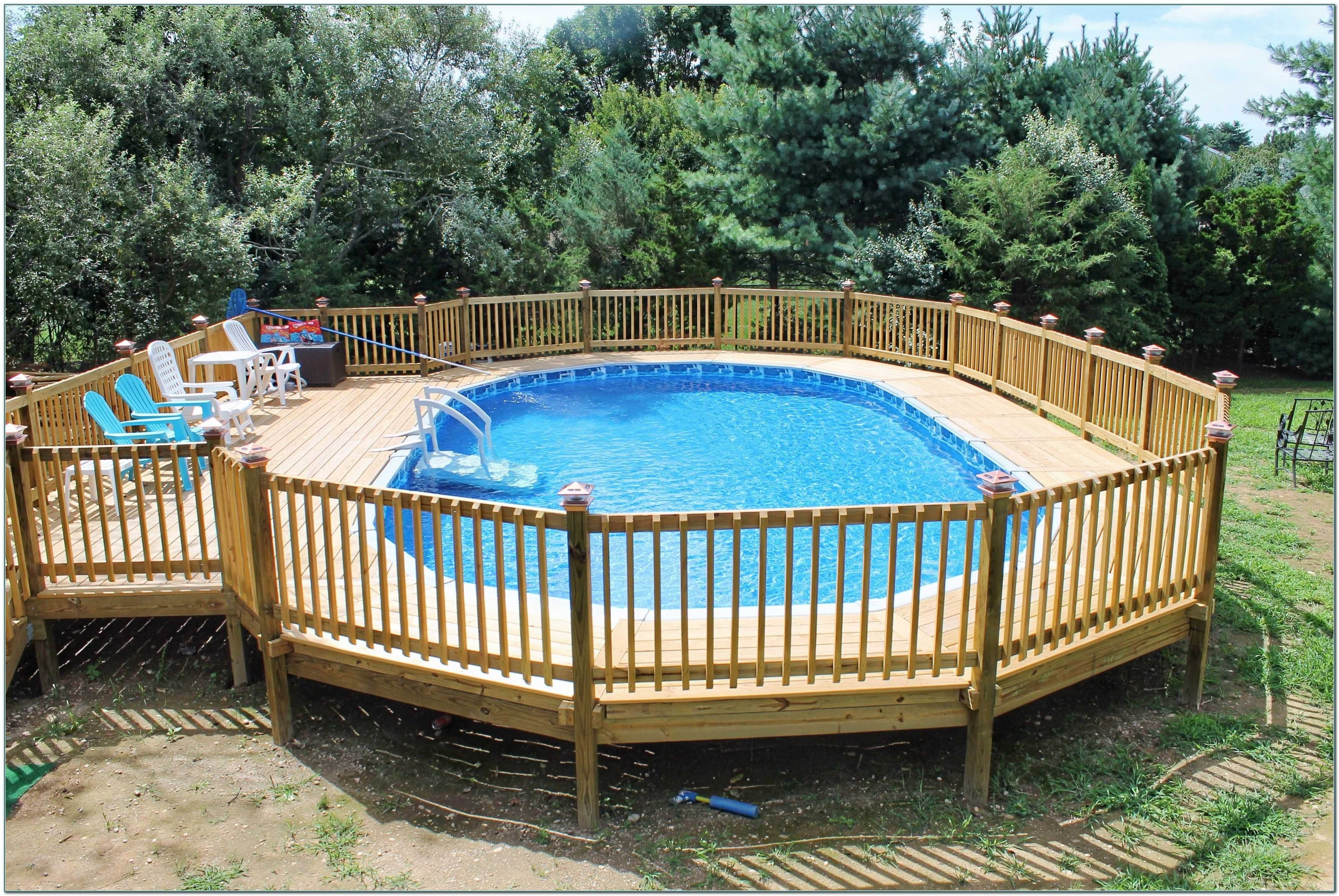 10 Trendy Deck Ideas For Above Ground Pools attractive oval above ground pool with deck decks ideas plans www 2021