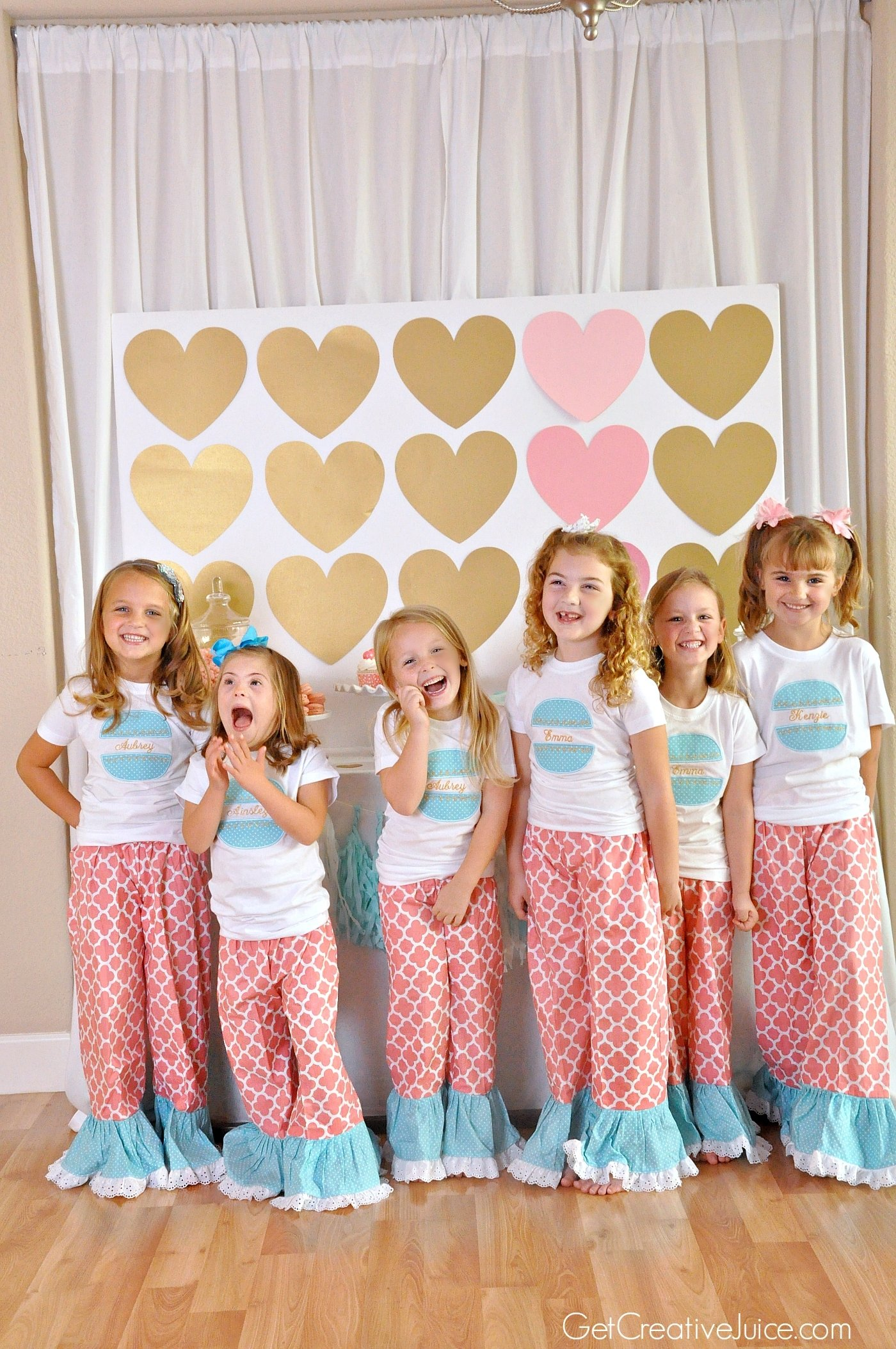10 Amazing Pajama Party Ideas For Kids aubrey is 6 pink gold macaron party creative juice