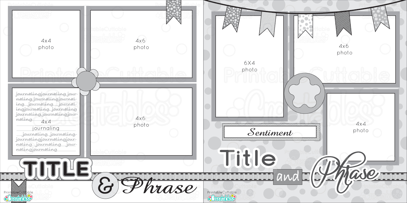 10 Fashionable 2 Page Scrapbook Layout Ideas august 2 page sketch challenge scrapbook powered 2021