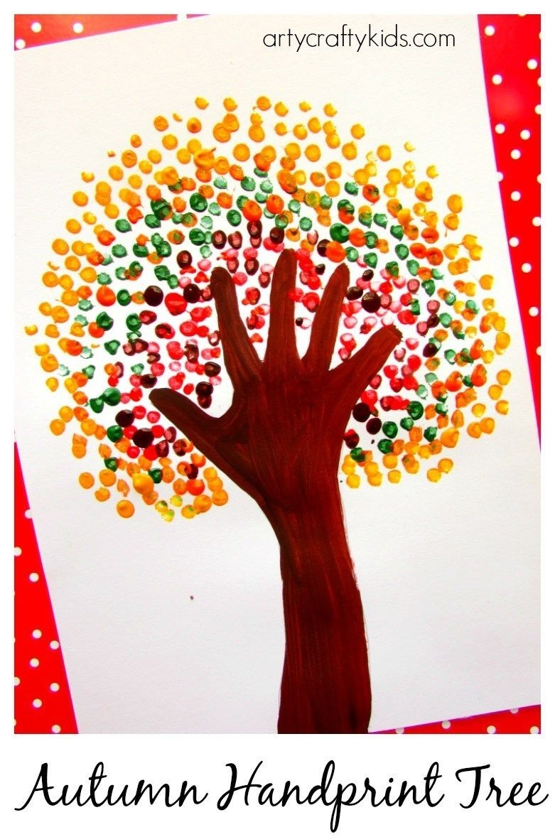 autumn handprint tree | crafty kids, art art and crafty
