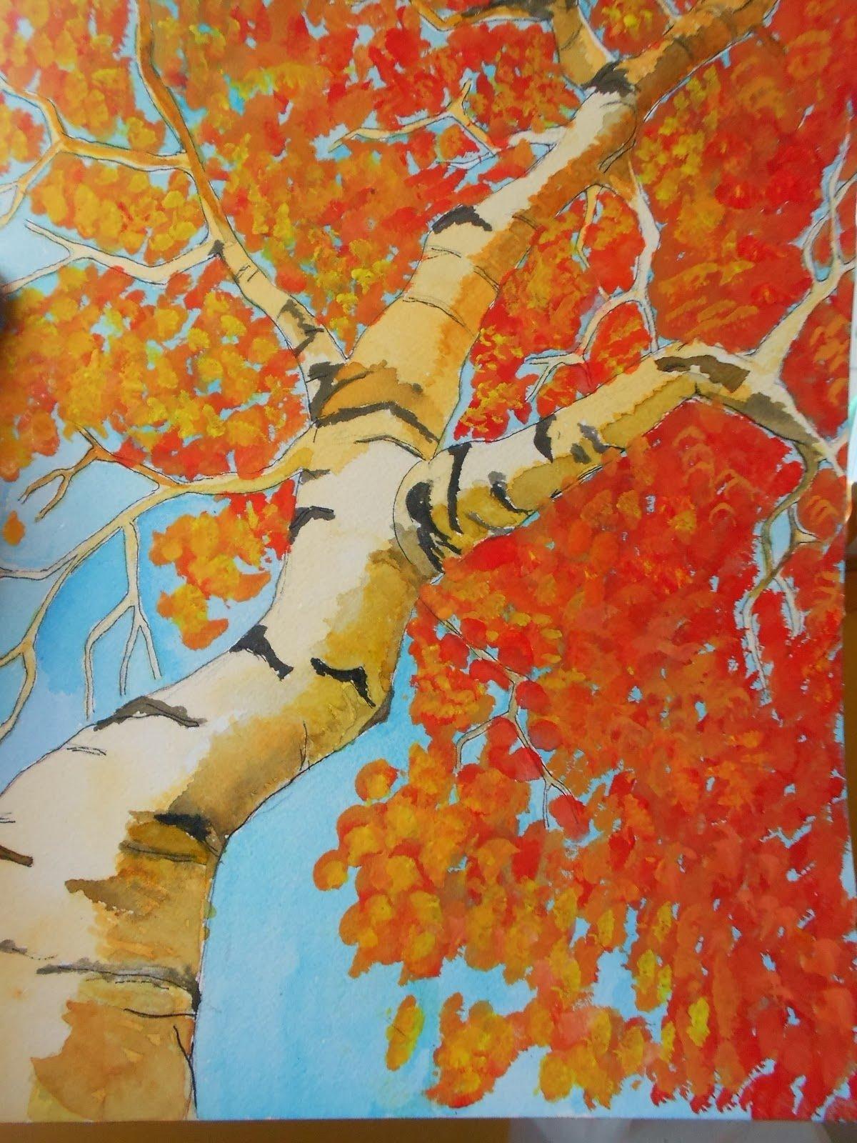 10 Attractive Art Project Ideas For Kids autumn landscape art project ideas artmuse67 2021
