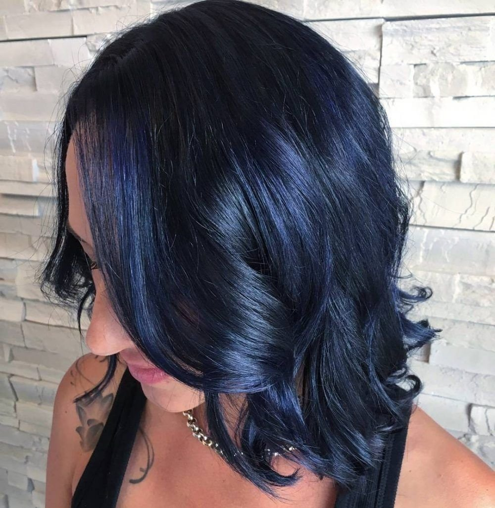 10 Awesome Hair Dye Ideas For Black Hair awesome blue black hair u most popular shades are right here picture 2021