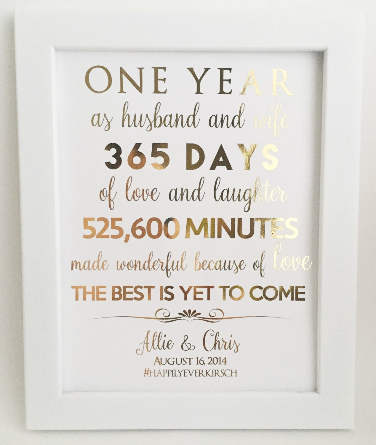 awesome first wedding anniversary gifts for husband gallery - styles