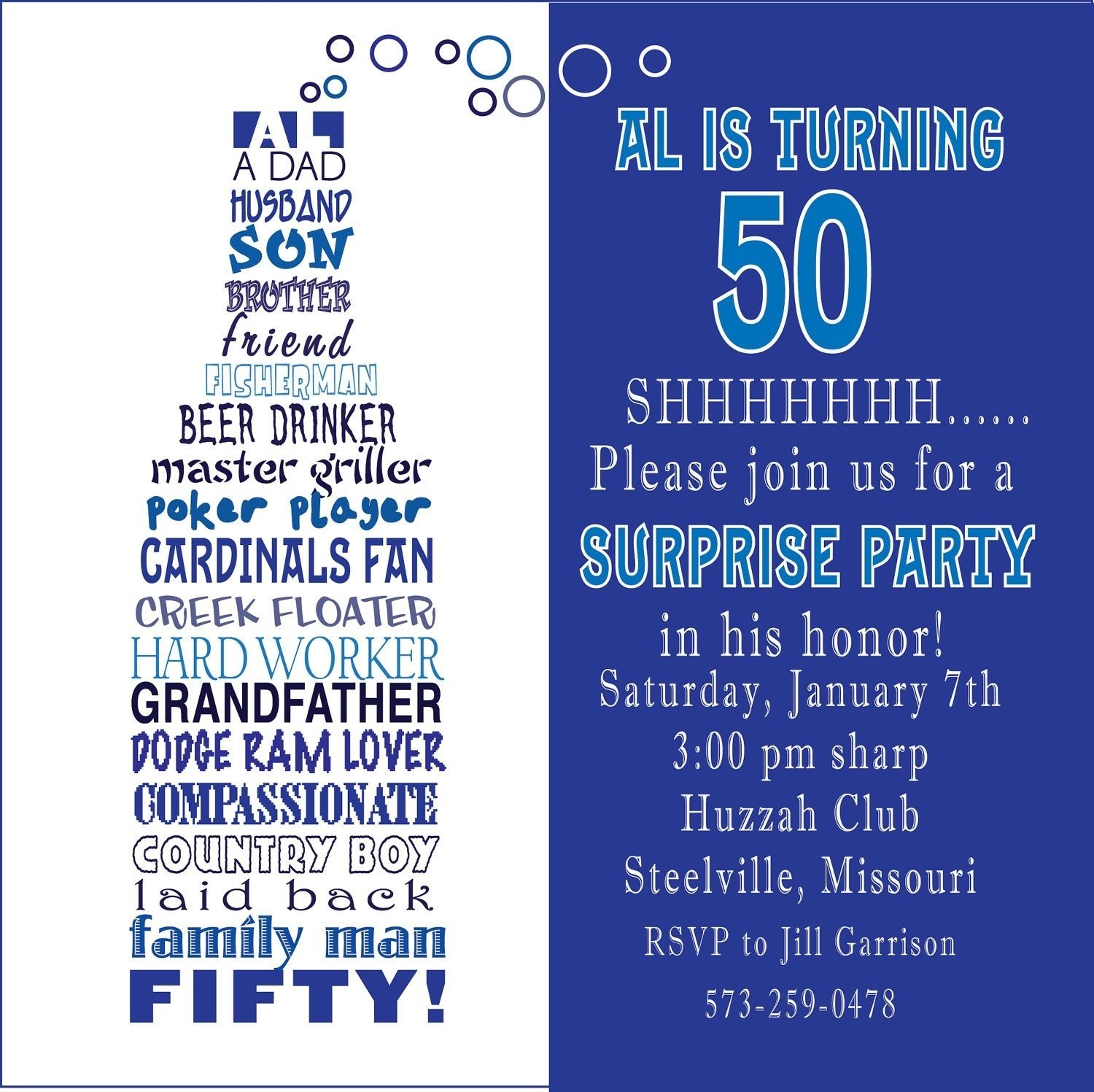 10 Best 50Th Birthday Party Invitations Ideas awesome free template funny 50th birthday party invitation wording 2020