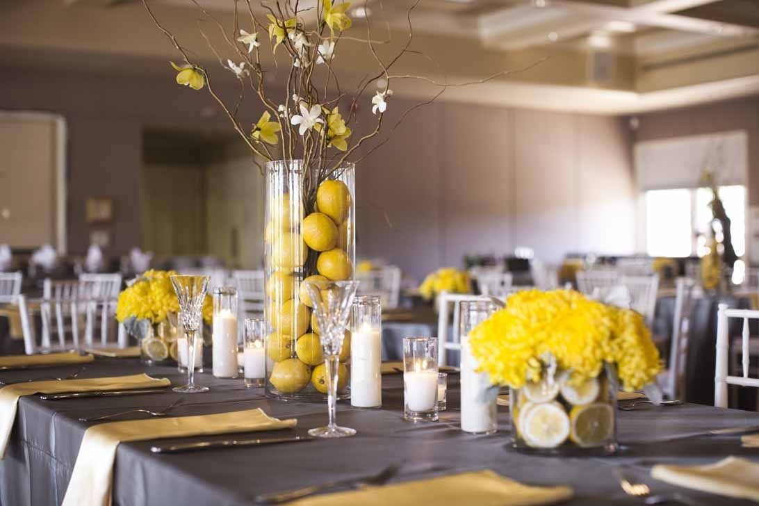 10 Fashionable Gray And Yellow Wedding Ideas