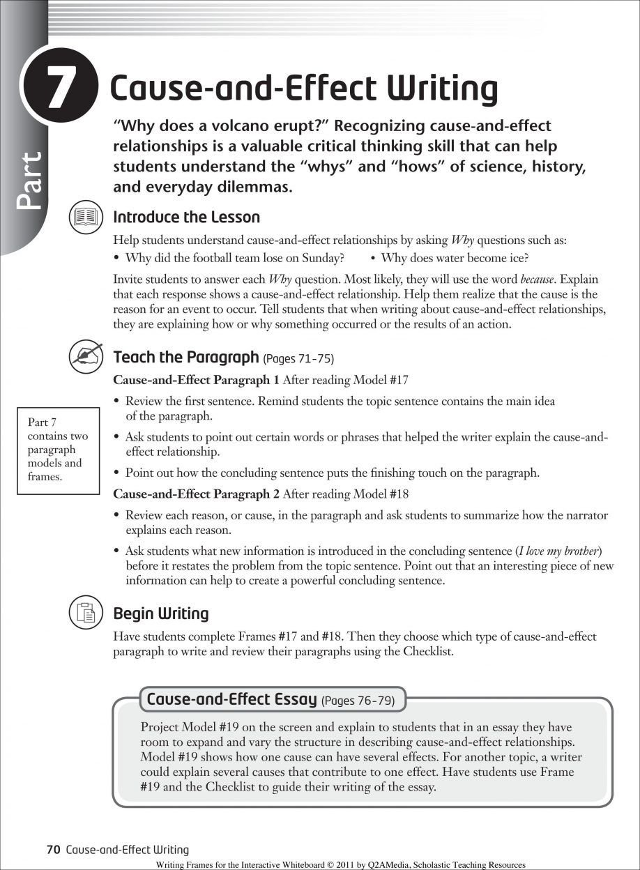 10 Attractive Cause And Effect Essay Ideas awesome how to write a cause effect essay definition writing