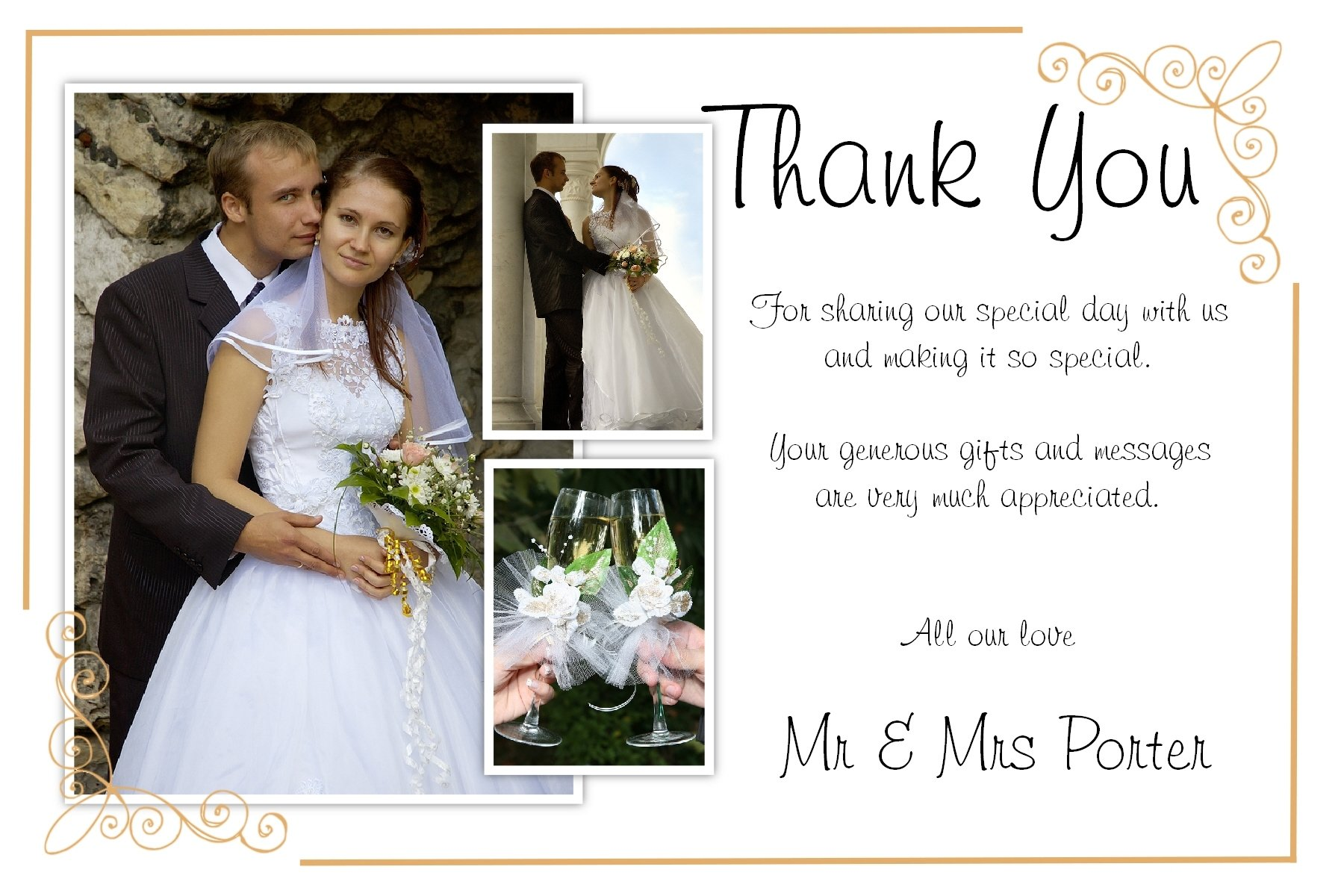 10 Lovely Wedding Thank You Card Ideas awesome photo wedding thank you cards which can be used as wedding 2020