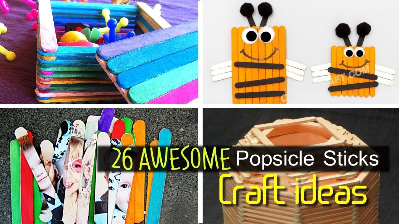 10 Spectacular Craft Ideas With Popsicle Sticks awesome popsicle stick craft ideas youtube 2021