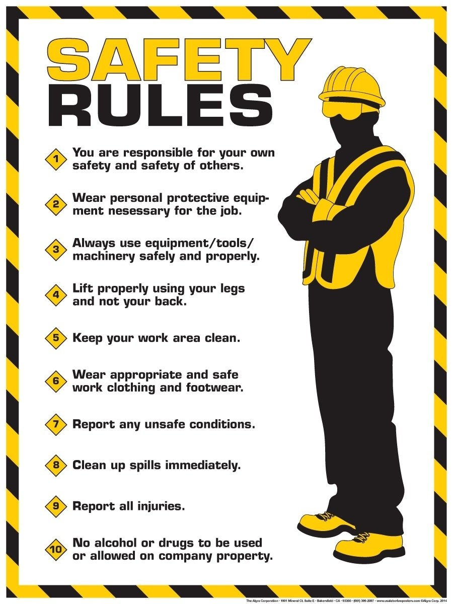 10 Pretty Safety Ideas For The Workplace awesome safety posters workplace and incredible ideas of office 2020