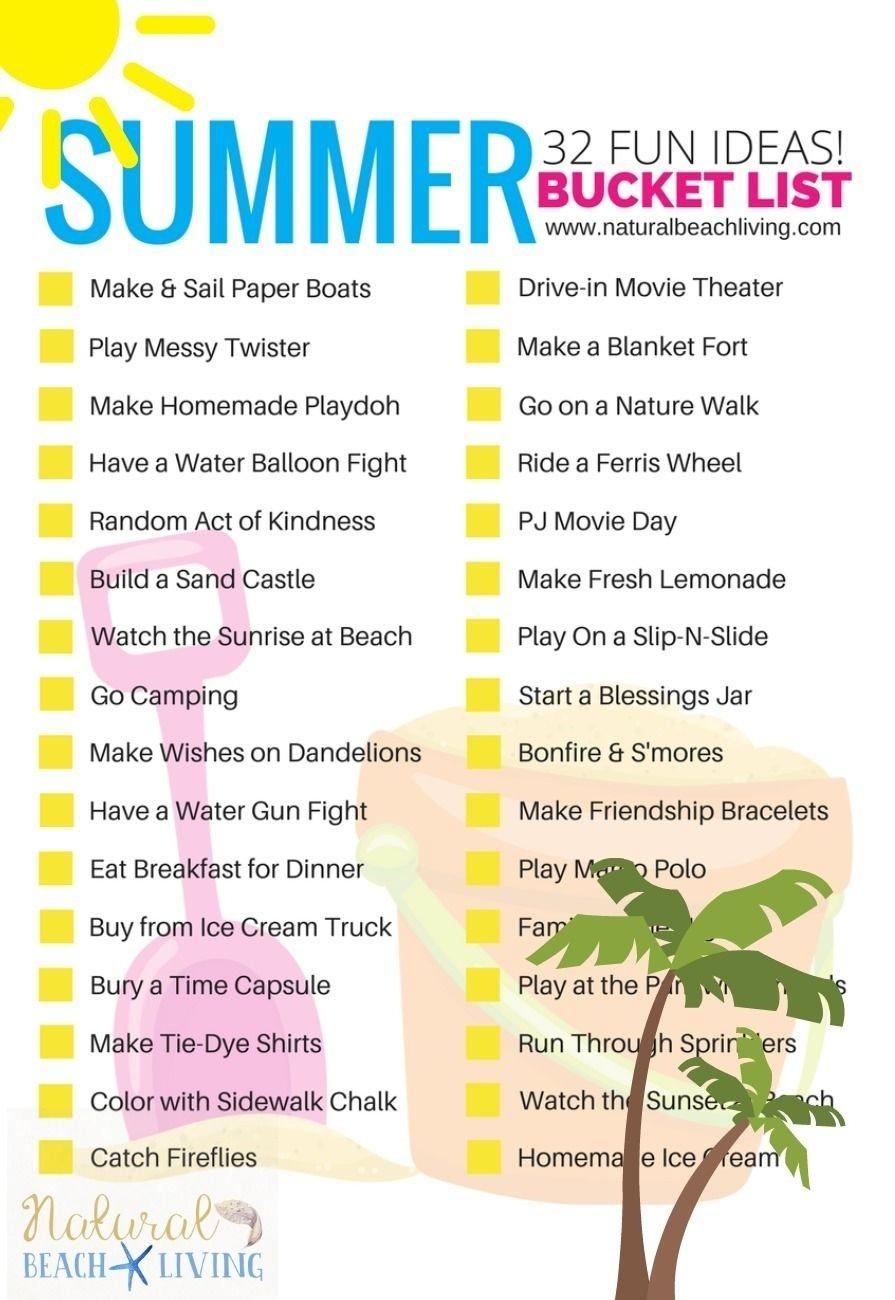 10 Attractive Fun Summer Bucket List Ideas awesome summer bucket list ideas for kids free printable boredom 5 2020