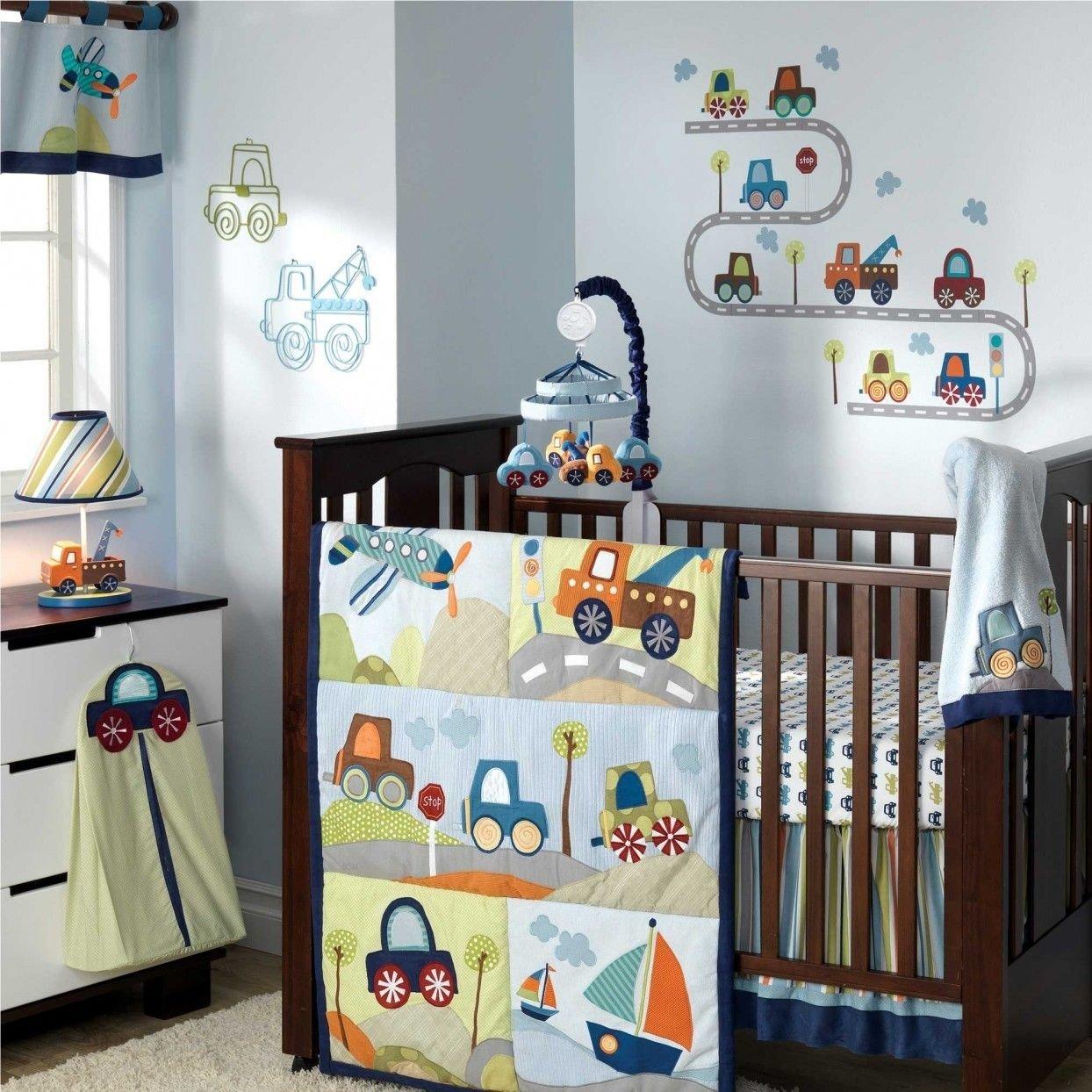 10 Elegant Baby Boy Ideas For Nursery baby boys car themed nursery bedroom ideas in light blue color with 2021